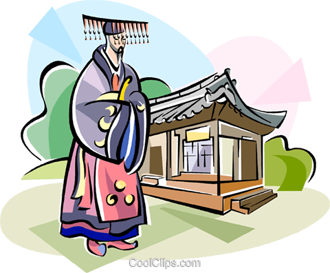Traditional Korean clothing Royalty Free Vector Clip Art illustration vc111925
