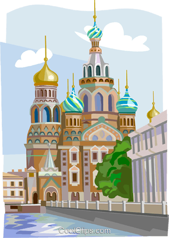 Russia Cathedral of Our Savior Royalty Free Vector Clip Art illustration vc111929
