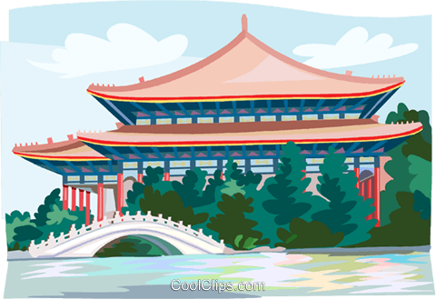 Taiwan  temple Royalty Free Vector Clip Art illustration vc111932