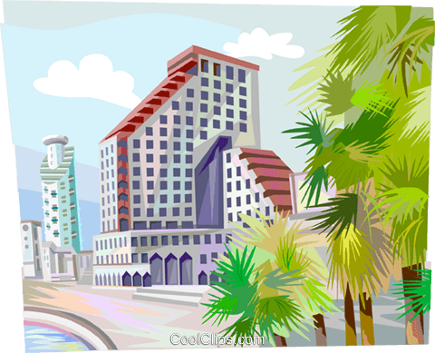Tel-Aviv Israel Royalty Free Vector Clip Art illustration vc111935