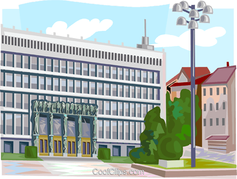 Slovenia Parliament Building Royalty Free Vector Clip Art illustration vc111938