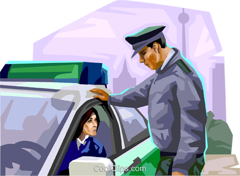 Germany Berlin police Royalty Free Vector Clip Art illustration vc111948