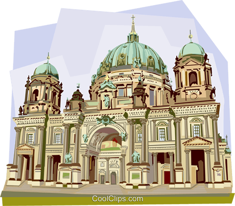 Germany Berliner Dom Berlin Cathedral Royalty Free Vector Clip Art illustration vc111951