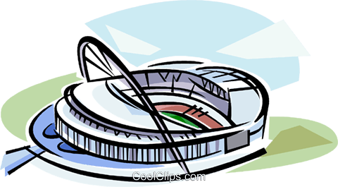Soccer Stadiums Royalty Free Vector Clip Art illustration vc111953