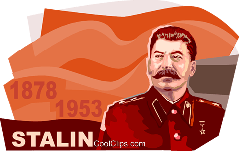 Joseph Stalin Royalty Free Vector Clip Art illustration vc111955