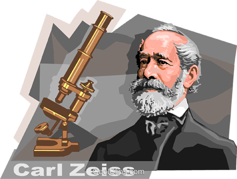 German Innovator Carl Zeiss Royalty Free Vector Clip Art illustration vc111958