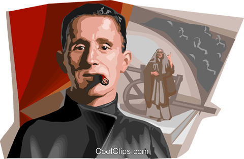 German dramatist Bertolt Brecht Royalty Free Vector Clip Art illustration vc111959