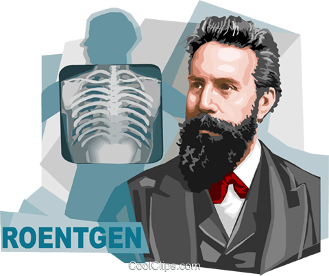 German physicist Wilhelm Conrad Röntgen Royalty Free Vector Clip Art illustration vc111962