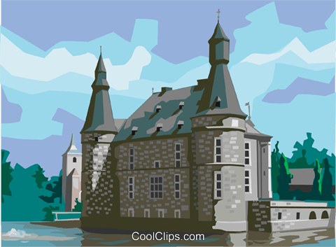 Château de Jehay Liège Belgium Royalty Free Vector Clip Art illustration vc111974