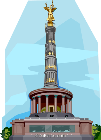 Germany Victory Column Royalty Free Vector Clip Art illustration vc111978