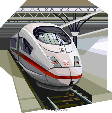 Brussels high speed train Royalty Free Vector Clip Art illustration vc111982