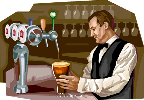 Brussels bar scene Royalty Free Vector Clip Art illustration vc111996