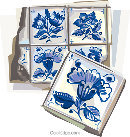 Portugal azulejo tiles Royalty Free Vector Clip Art illustration vc112009