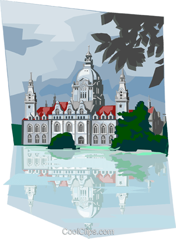Germany Hannover City Hall Royalty Free Vector Clip Art illustration vc112022