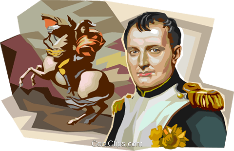 France Napoléon Bonaparte Royalty Free Vector Clip Art illustration vc112028