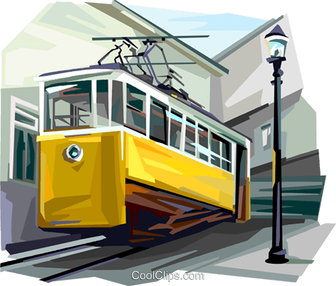 Portugal vertical tram Royalty Free Vector Clip Art illustration vc112039