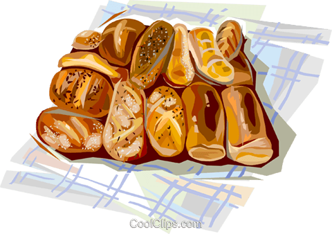 French bread Royalty Free Vector Clip Art illustration vc112053