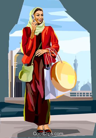 eb0d913c1613 Arabo donna shopping immagini grafiche vettoriali clipart -vc112068 ...