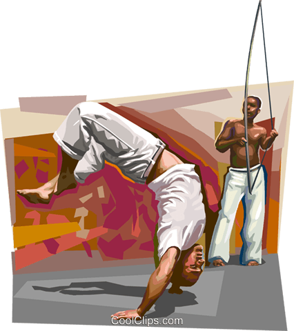 Bahia culture Capoeira Royalty Free Vector Clip Art illustration vc112069