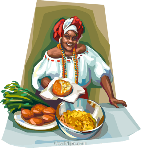 Brazilian woman in Bahia dress Royalty Free Vector Clip Art illustration vc112070