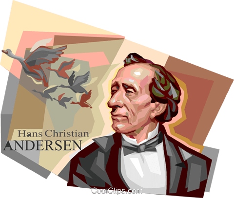 Hans Christian Andersen Royalty Free Vector Clip Art illustration vc112077