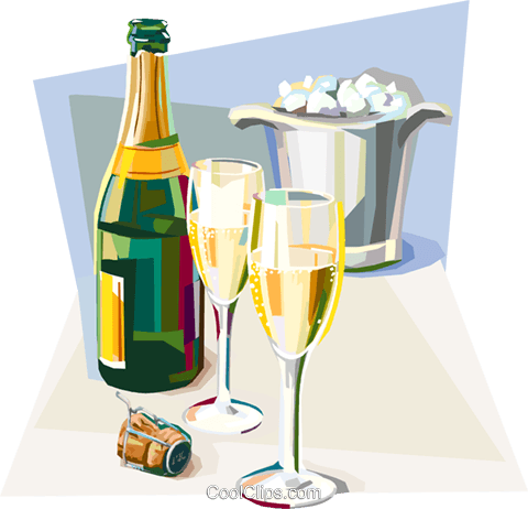 French champagne celebration Royalty Free Vector Clip Art illustration vc112082
