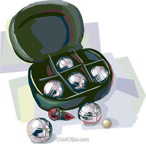 Outdoor recreation Petanque set Royalty Free Vector Clip Art illustration vc112084