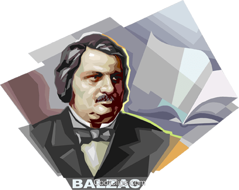 Honore de Balzac Royalty Free Vector Clip Art illustration vc112085