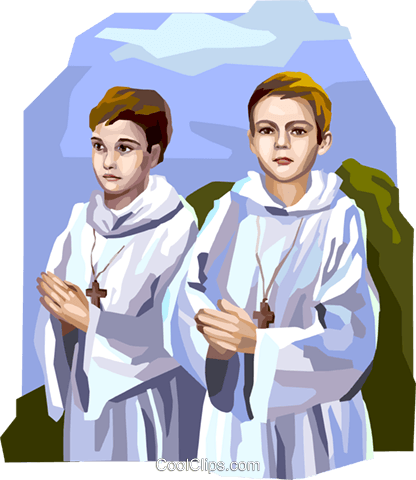 Boys preparing for First Communion Royalty Free Vector Clip Art illustration vc112099