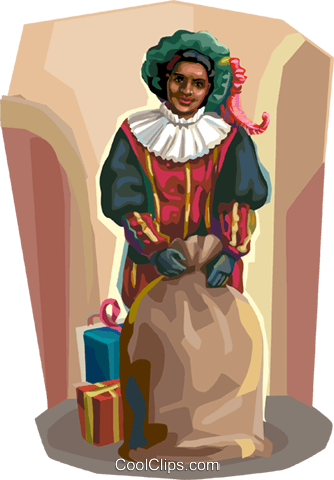Dutch Christmas Zwarte Piet Royalty Free Vector Clip Art illustration vc112125