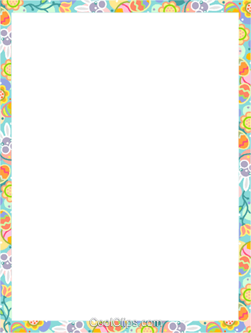 Easter Frame Royalty Free Vector Clip Art illustration vc112167