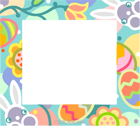Easter frame Royalty Free Vector Clip Art illustration vc112168