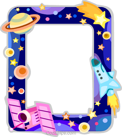 Outer Space frame Royalty Free Vector Clip Art ...