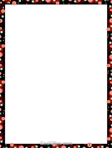 Decorative frame Royalty Free Vector Clip Art illustration vc112191
