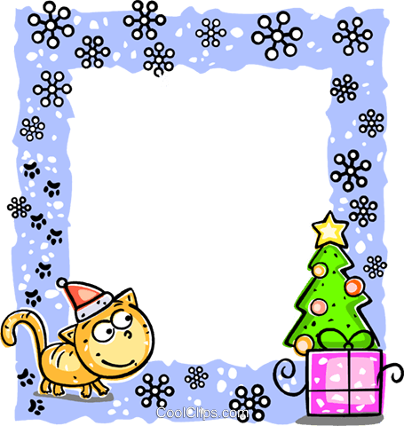Christmas Frame Royalty Free Vector Clip Art illustration vc112217