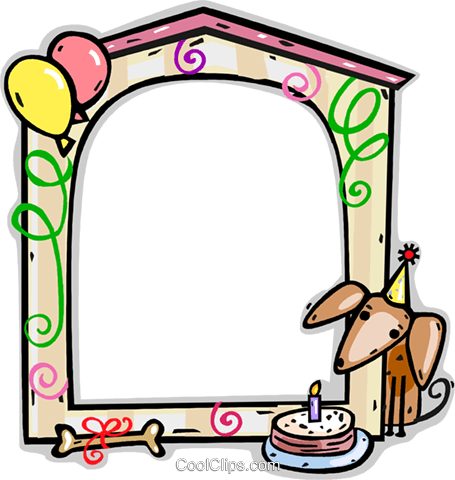 Birthday Frame Royalty Free Vector Clip Art illustration vc112221