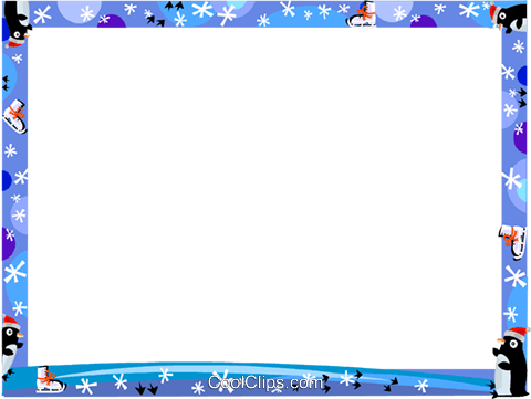 Winter Frame Royalty Free Vector Clip Art illustration vc112222