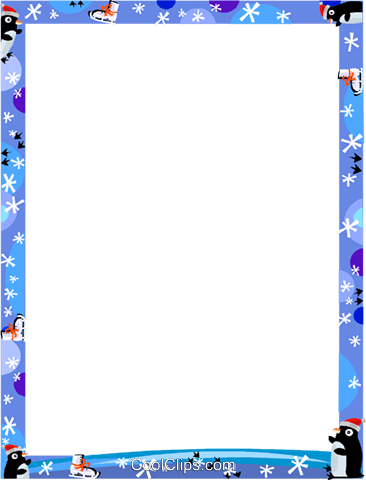 Winter Frame Royalty Free Vector Clip Art illustration vc112223