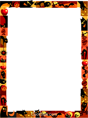Halloween Frame Royalty Free Vector Clip Art illustration vc112227