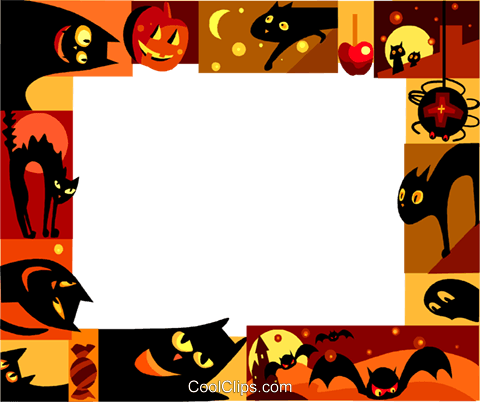 Halloween Frame Royalty Free Vector Clip Art illustration vc112228