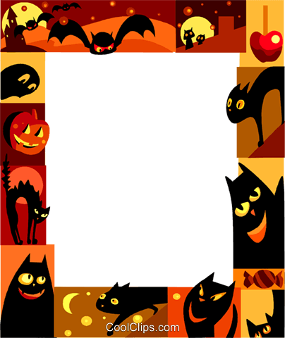 Halloween Frame Royalty Free Vector Clip Art illustration vc112229