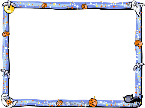 Halloween Frame Royalty Free Vector Clip Art illustration vc112230