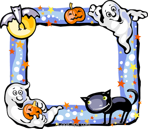 Halloween Frame Royalty Free Vector Clip Art illustration vc112232