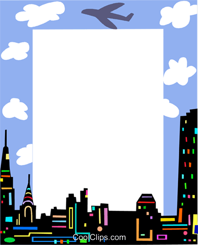 Cityscape frame Royalty Free Vector Clip Art illustration vc112237