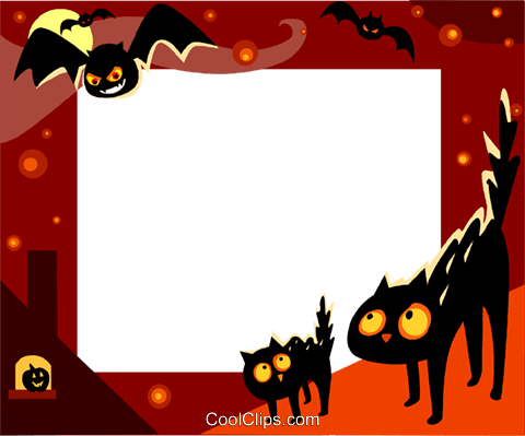 Halloween Frame Royalty Free Vector Clip Art illustration vc112244
