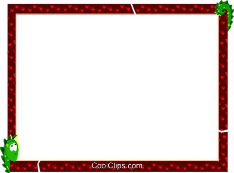 Valentines day frame Royalty Free Vector Clip Art illustration vc112254