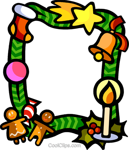 Christmas themed frame Royalty Free Vector Clip Art illustration vc112265