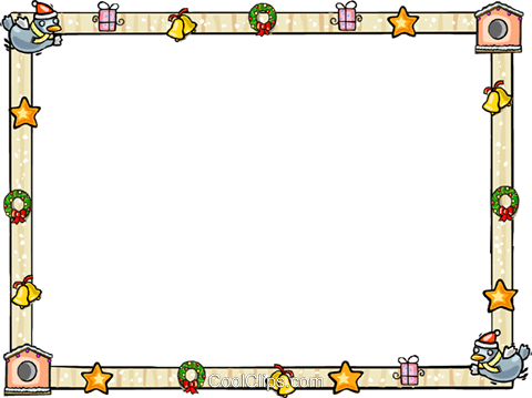 Christmas themed frame Royalty Free Vector Clip Art illustration vc112266