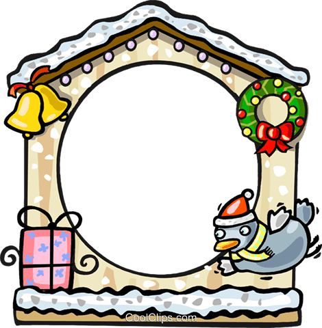 Christmas themed frame Royalty Free Vector Clip Art illustration vc112269