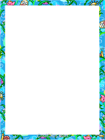 Aquatic themed frame Royalty Free Vector Clip Art illustration vc112271